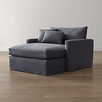 Lounge II Slipcovered Chaise