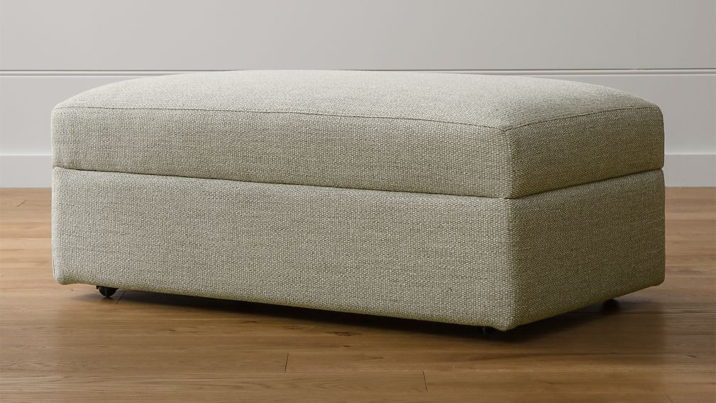 Lounge II Ottoman and a Half with Casters