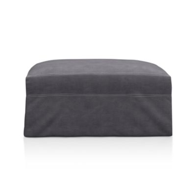 Eco Friendly Denim Ottoman | Crate and Barrel