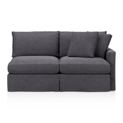 Lounge Slipcovered Right Arm Sectional Apartment Sofa