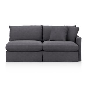 Lounge Slipcovered Right Arm Sectional Sofa