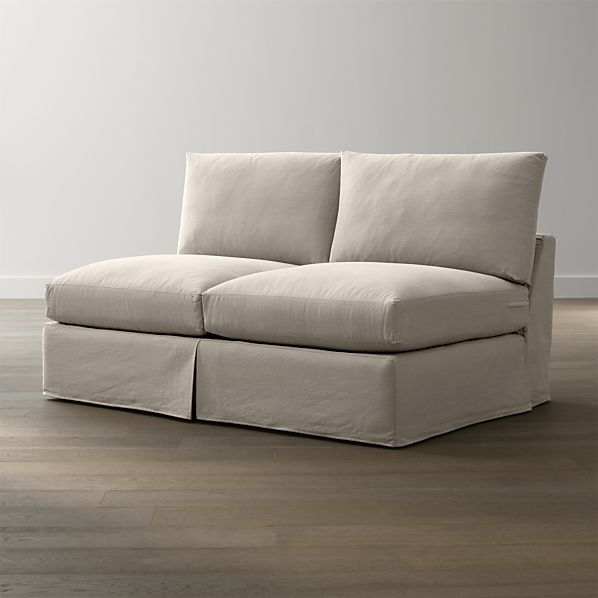 Lounge Slipcovered Armless Loveseat