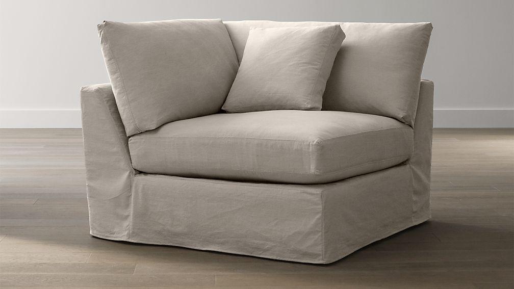 Lounge Slipcovered Corner Chair