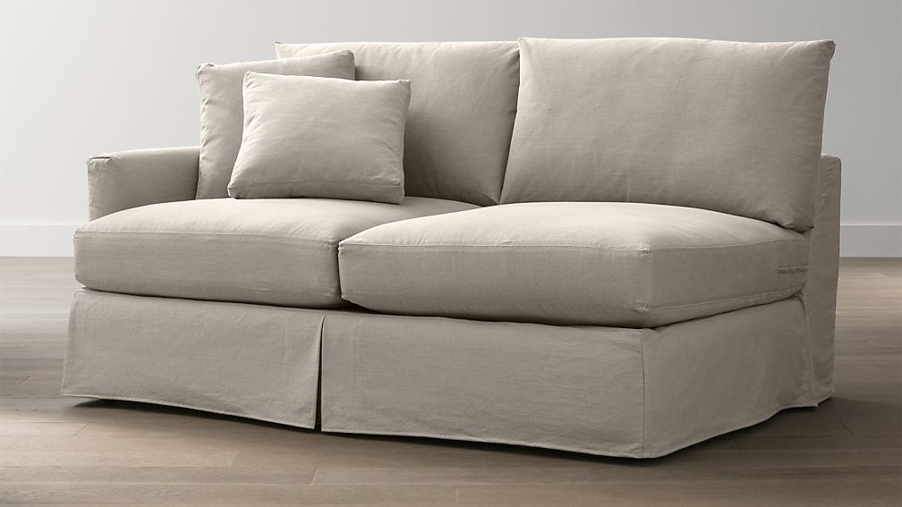 Lounge Slipcovered Left Arm Apartment Sofa