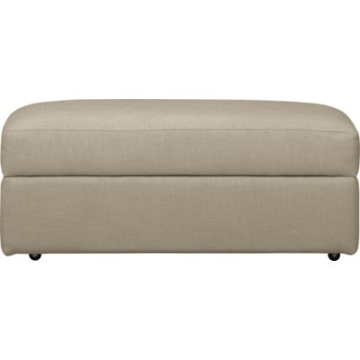 Lounge Ottoman and a Half with Casters