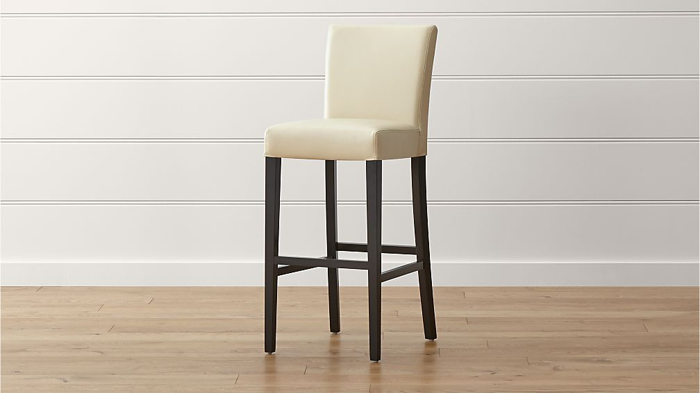Lowe Ivory Leather Bar Stool Crate And Barrel