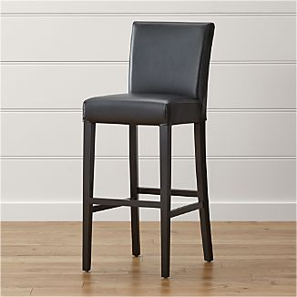 Lowe Onyx Leather Bar Stool