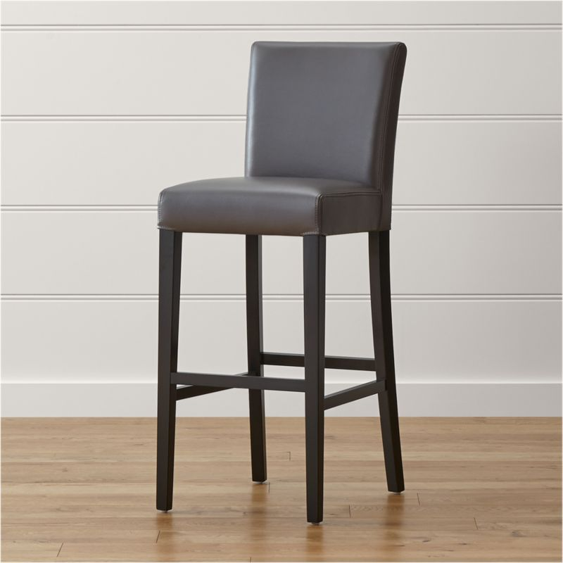 Lowe Smoke Leather Bar Stool Crate And Barrel