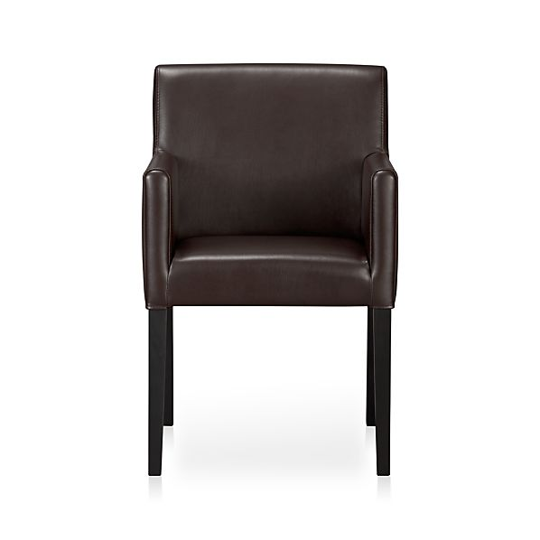 Lowe Chocolate Leather Arm Chair