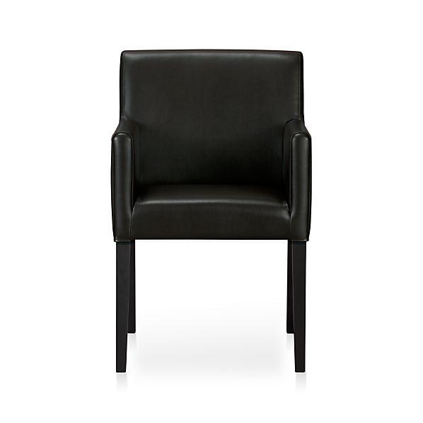 Lowe Onyx Leather Arm Chair