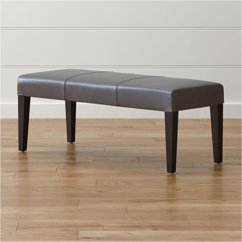 Lowe Smoke Leather Bench