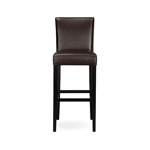 Lowe Chocolate Leather Bar Stool