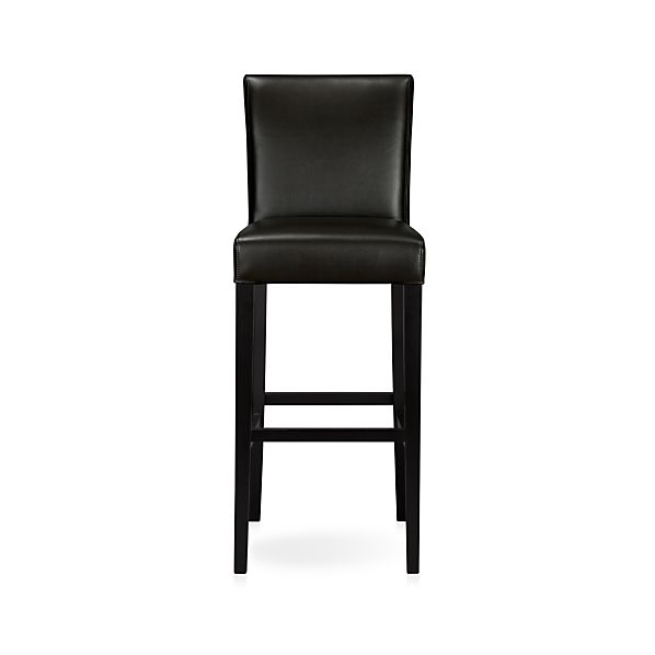 "Lowe Onyx 30"" Leather Bar Stool"