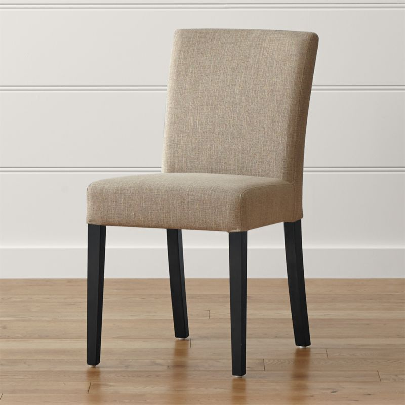 Crate And Barrel Dining Chair: Lowe Khaki Upholstered Dining Chair