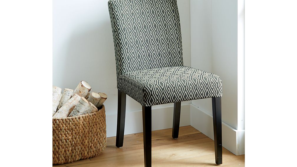 Lowe diamond upholstered dining chair crate and barrel - Crate and barrel parsons chair ...