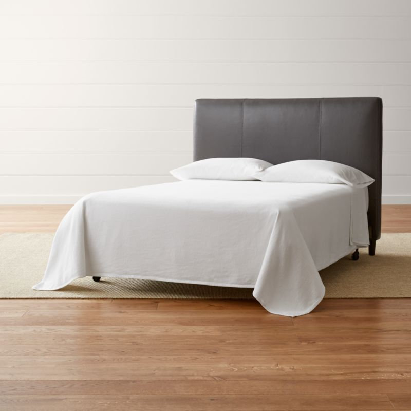 Lowe Smoke Grey Leather Full Headboard