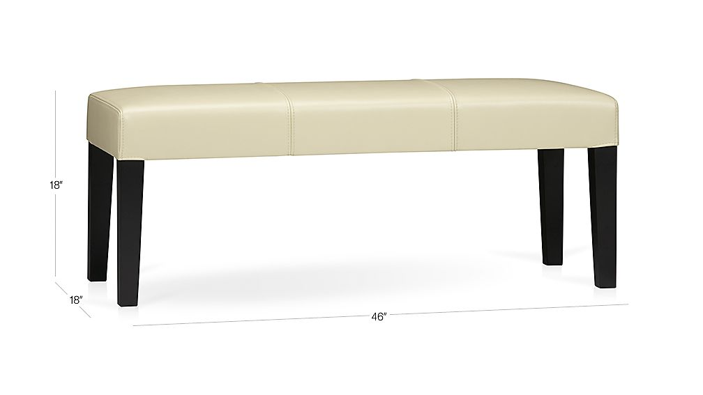 Lowe Ivory Leather Backless Bench Crate And Barrel