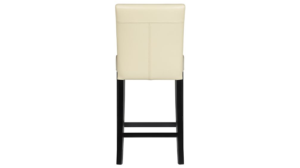 Lowe Ivory Leather Counter Stool Crate And Barrel