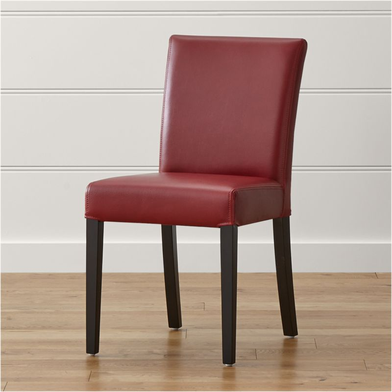 Red Leather Dining Room Chairs: Lowe Red Leather Dining Chair
