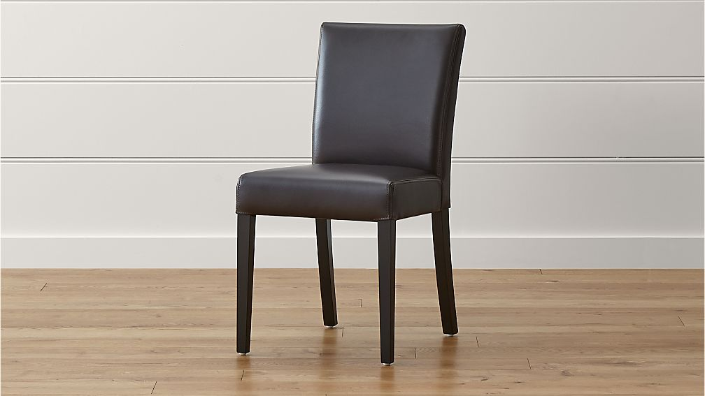 Crate And Barrel Chair Covers Lowe Chocolate Leather Dining Chair | Crate and Barrel