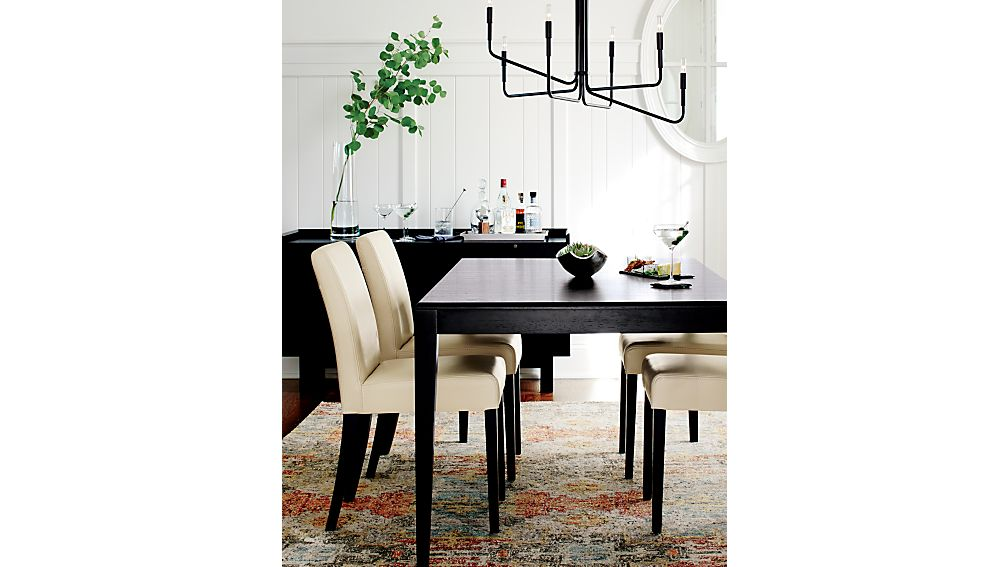 Facet Extension Dining Table Crate and Barrel : LoweSeating20CollectionJE16 from crateandbarrel.com size 1008 x 567 jpeg 65kB
