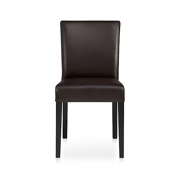 Lowe Chocolate Leather Side Chair