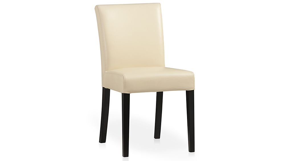 Lowe Ivory Leather Dining Chair Crate and Barrel : lowe ivory leather side chair from crateandbarrel.com size 1008 x 567 jpeg 13kB