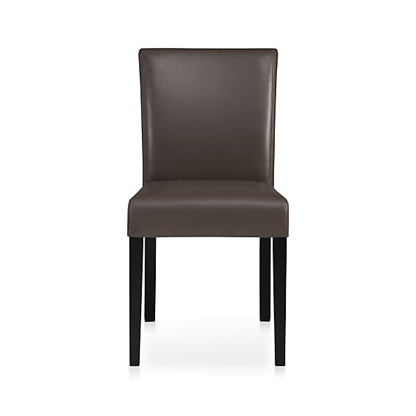 Lowe Smoke Leather Side Chair