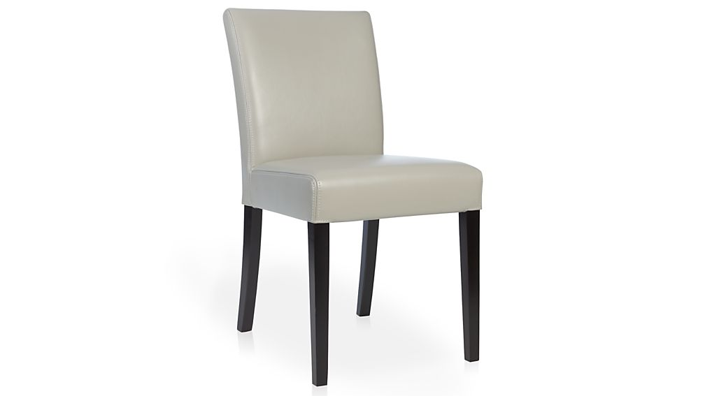 Lowe Pewter Leather Dining Chair Crate And Barrel