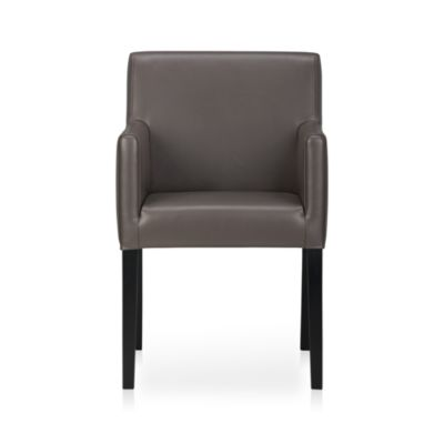 Lowe Smoke Leather Arm Chair