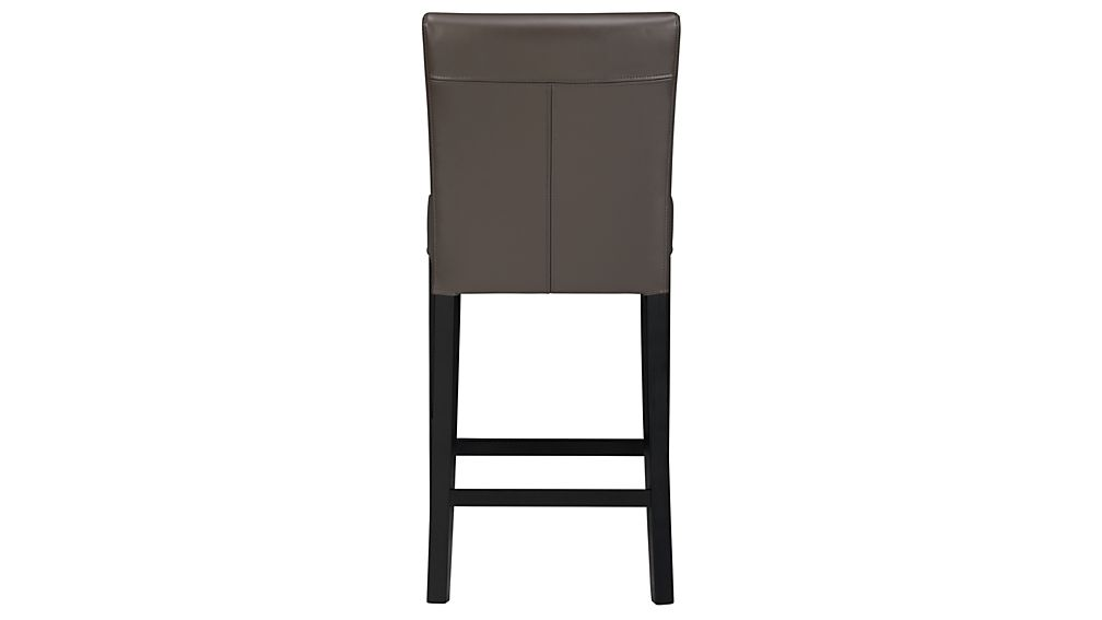 Lowe Smoke Leather Bar Stool