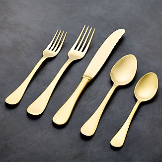 Lucia Gold 20-Piece Flatware Set