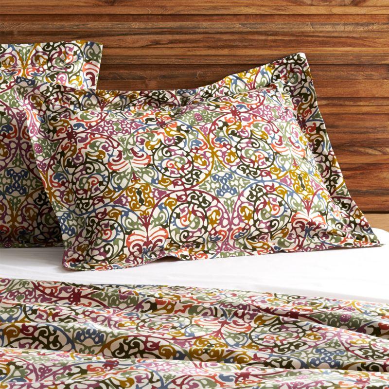 Decorative Standard Pillow Shams : Lucia Standard Pillow Sham Crate and Barrel