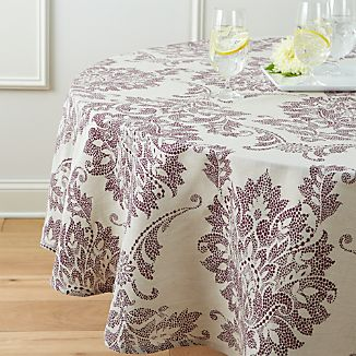 "Lucia 90"" Round Tablecloth"