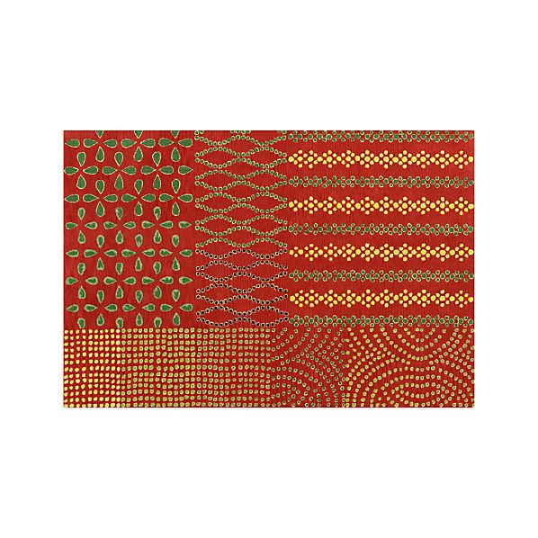 Lula Orange Wool 6'x9' Rug
