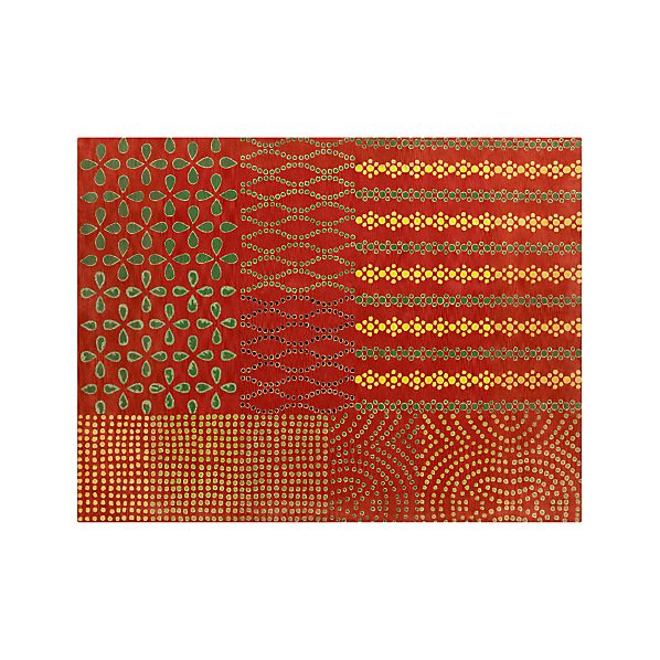 Lula Orange Wool 9'x12' Rug