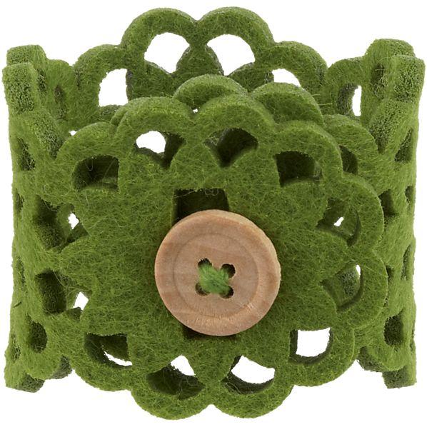 Lulea Green Napkin Ring