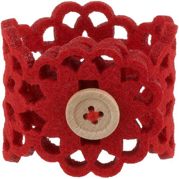 Lulea Red Napkin Ring