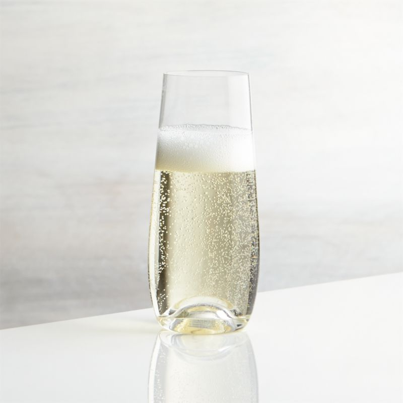 Lulie Stemless Champagne Glass Crate And Barrel