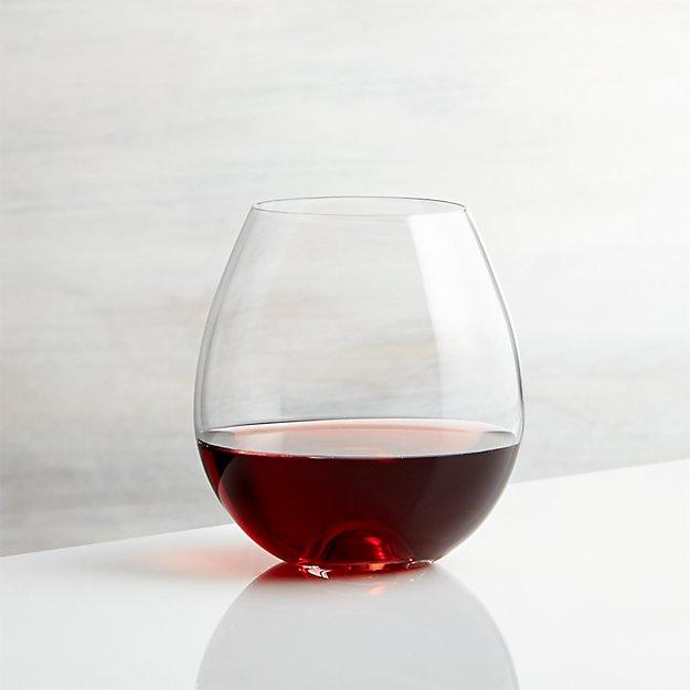 lulie stemless wine glass crate and barrel. Black Bedroom Furniture Sets. Home Design Ideas
