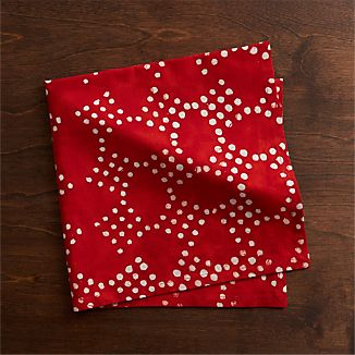 Lumi Batik Red Dinner Napkin