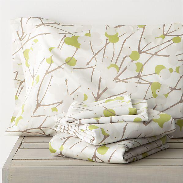 Marimekko Lumimarja Celery Full Sheet Set