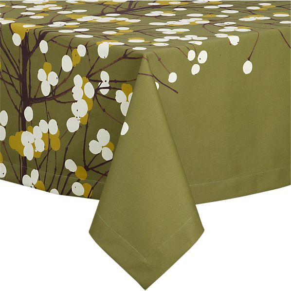 "Marimekko Lumimarja Green 60""x120"" Tablecloth"