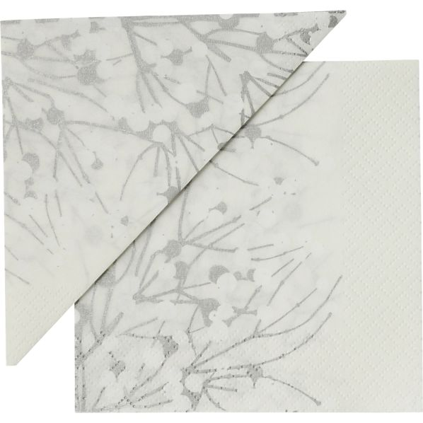 "Set of 20 Marimekko Lumimarja White Paper 4.75"" Napkins"
