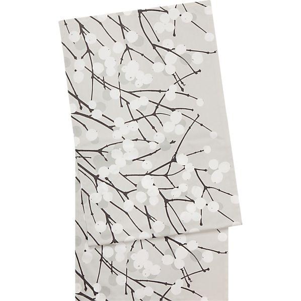 """Marimekko Lumimarja Grey and White 20""""x63"""" Runner"""