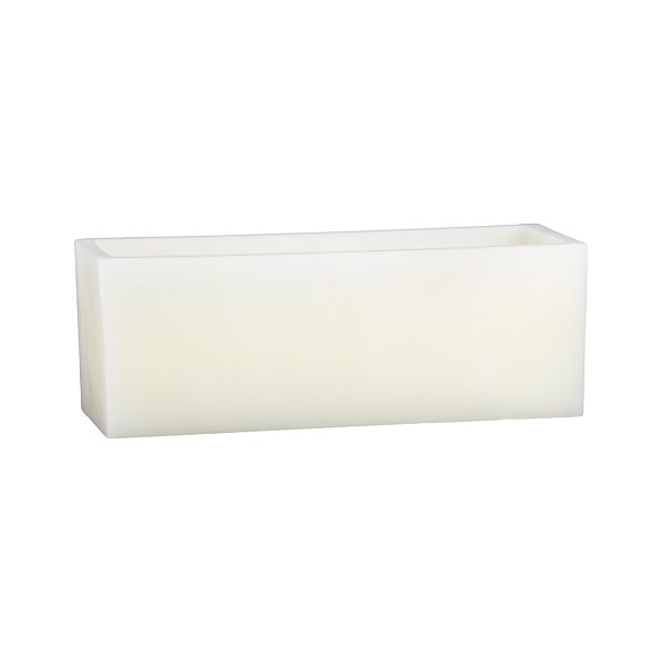 Luminary Rectangle White Candle
