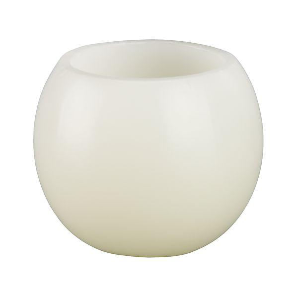 Luminary Small White Candle
