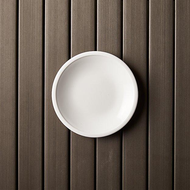 "Lunea Melamine White 6"" Appetizer Plate"