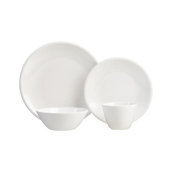 Lunea Melamine White Dinnerware