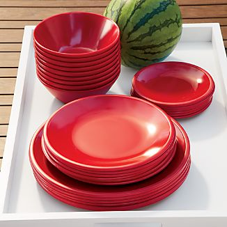 Lunea Melamine Red Dinnerware